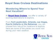 Royal Seas Cruises Destinations | Royal Seas Cruises