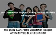 Dissertation Proposal Writing Services Available in Cheap Price