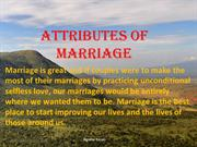 Attributes of Marriage