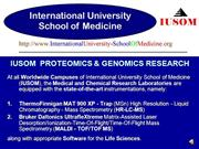IUSOM PROTEOMICS & GENOMICS RESEARCH