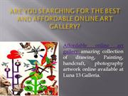 Affordable Online Art Gallery