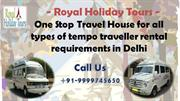 Tempo Traveller Hire Delhi, Luxury Tempo Traveller on Rent