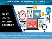 7 Tips To Make Your Web Design SEO-Friendly