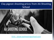 Clay Pigeon Shooting Prices at AA Shooting School, Dorset, UK