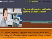 immediate Technical Solution to Enable Norton Identity Toolbar