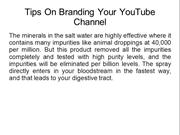 Tips On Branding Your YouTube Channel