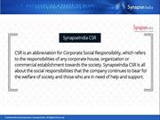 Uplifting the underprivileged with SynapseIndia CSR