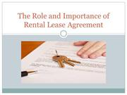 The Role and Importance of Rental Lease Agreement