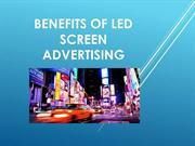 Benefits Of LED Screen Advertising