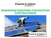 Residential-Solar-Panels-Florida-A-Few-Tips-On-How-To-Pick-Them-Proper