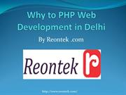 Why to PHP Web Development in Delhi