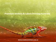 Premium Stickers & Labels Printing Australia - Chameleon Print Group