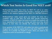 Which Test Series Is Good For NEET