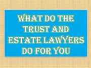 What do The Trust and Estate Lawyers do for You