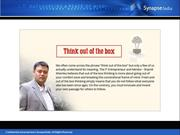 Shamit Khemka says out of the box thinkers leads the way