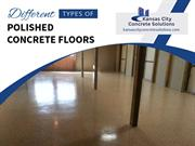 Different Types of Polished Concrete in Kansas City