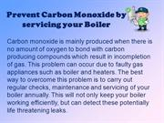 Prevent Carbon Monoxide By Servicing Your Boiler