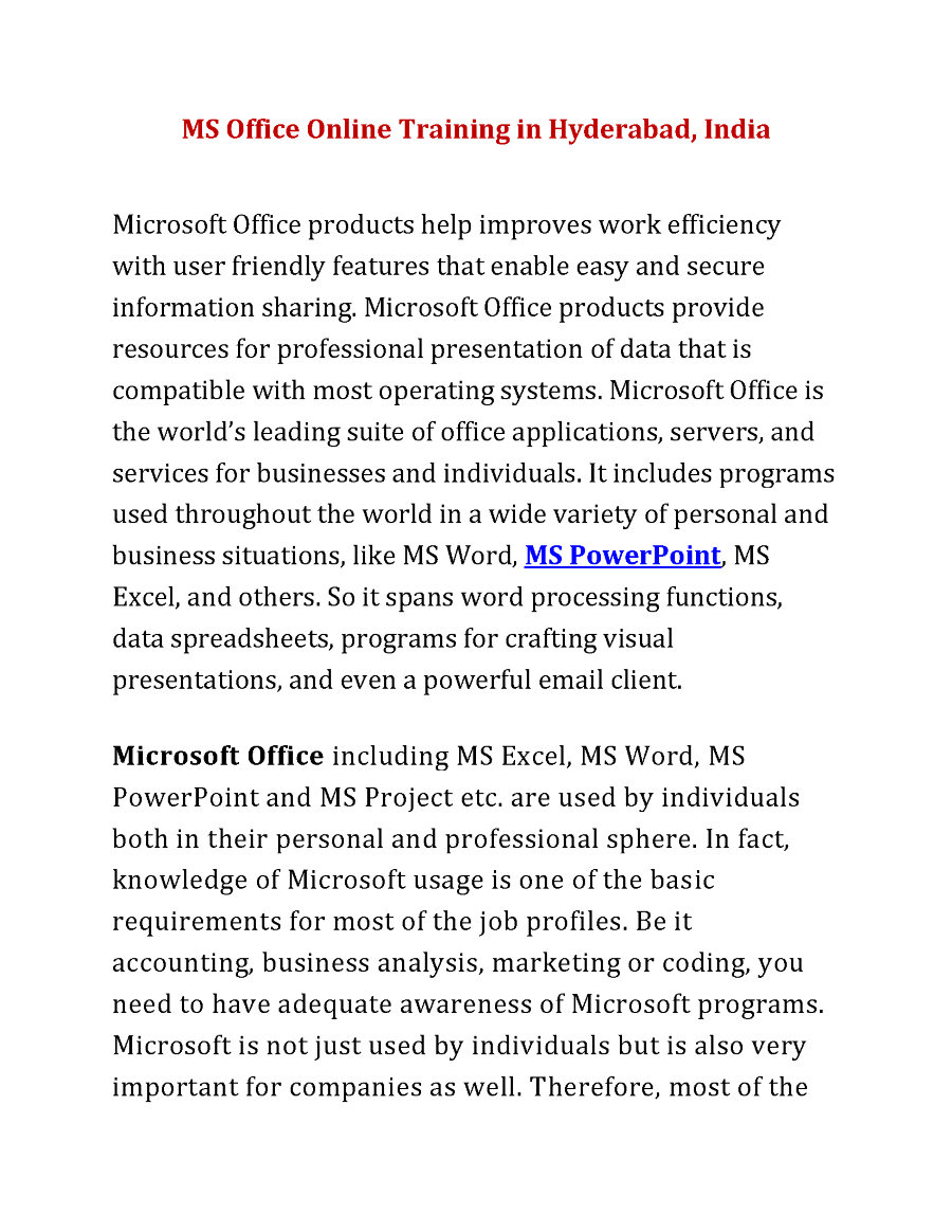 ms office latest version in india