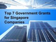 PPT : Top 7 Singapore Grants for Companies