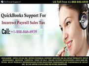 QuickBooks Support For Incorrect Payroll Sales Tax