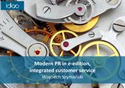 Modern PR in e-edition, integrated customer service