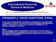 IUSOM FREQUENTLY ASKED QUESTIONS (FAQs)