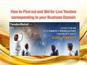 How to Find out and Bid for Live Tenders Online