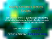 Quality Corporate Identity Designs