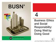 Chapter 4 Business Ethics 2018 MINI-LECTURE FOR ONLINE