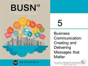 Chapter 5 business Communication MINI LECTURE FOR ONLINE