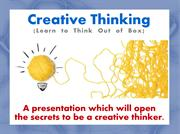 A Practical Guide to Improve Your Creative Thinking