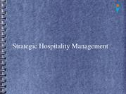 Strategic Hospitality Management