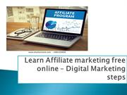 Get free affiliate marketing course free -Digital marketing steps