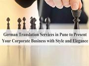 German translation services in Pune to present your corporate business