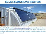 Solar Home Space Heating