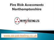 Fire Risk Assessments Northamptonshire - www.aa-pat-testing.co.uk