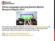 China Language Learning Games Market Research Report 2017