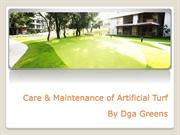 Care & Maintenance of Artificial Turf