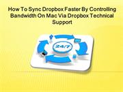 How To Sync Dropbox Faster By Controlling Bandwidth On Mac Via Dropbox