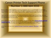 Canon Printer Tech Support Phone Number 1-888-664-3555