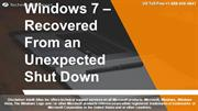 Windows – Recovered From an Unexpected Shut Down