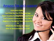 Amazon fire stick support