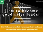 How to Become Good Sales Leader