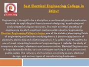Best Electrical Engineering College in Jaipur