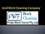 Acid Brick Cleaning ppt