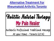 Multiple Sclerosis holistic treatment in toronto and Home Massage