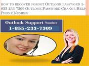 how to recover forgot Outlook password Outlook Password Change Help Ph