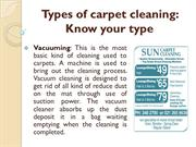 Types of carpet cleaning - Know your type