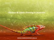 Stickers & Labels Printing in Australia - Chameleon Print Group