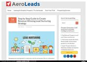 Step by Step Guide to Create Revenue Winning Lead Nurturing Strategy